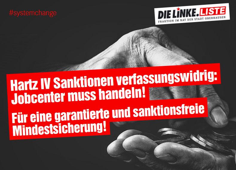 Hartz IV Sanktionen verfassungswidrig: Jobcenter muss handeln