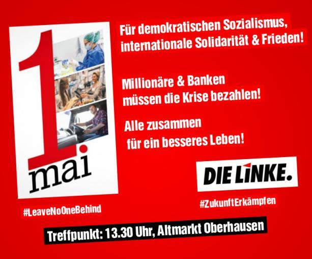DIE LINKE beteiligt sich an 1. Mai Kundgebung
