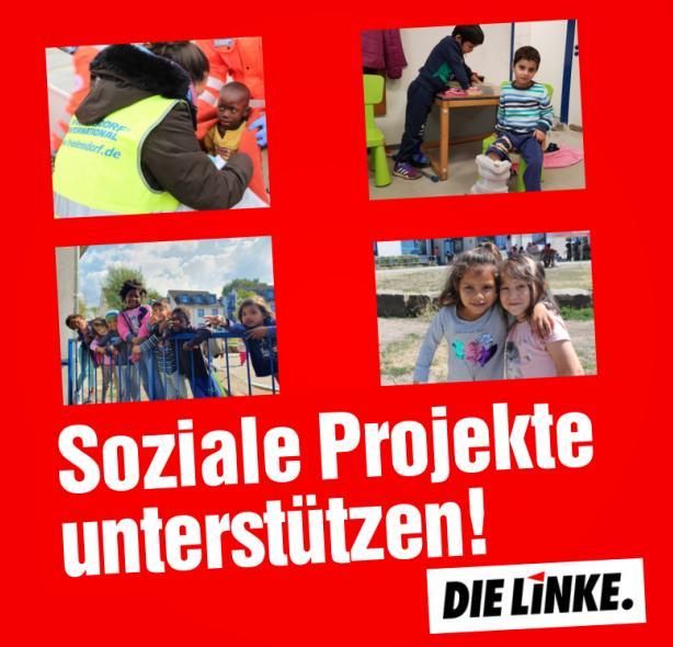 Soziale Projekte unterstützen: DIE LINKE spendet 1000 Euro an das Friedensdorf