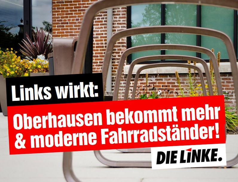 Links wirkt: Oberhausen bekommt mehr und moderne Fahrradständer