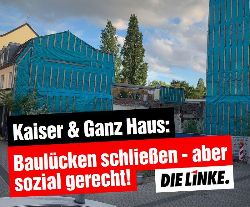 Kaiser & Ganz Haus: Baulücken schließen – aber sozial gerecht