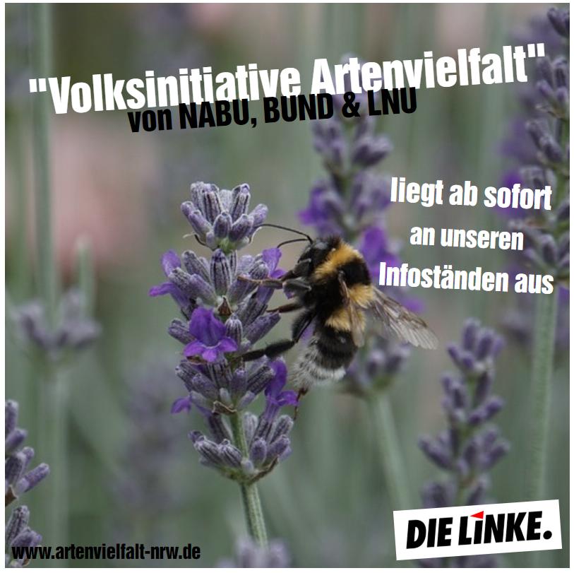 """DIE LINKE unterstützt die """"Volksinitiative Artenvielfalt"""""""
