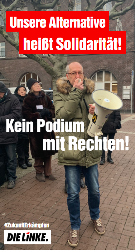 Gemeinsame Erklärung der Oberbürgermeisterkandidaten: Kein Podium mit Rechten!