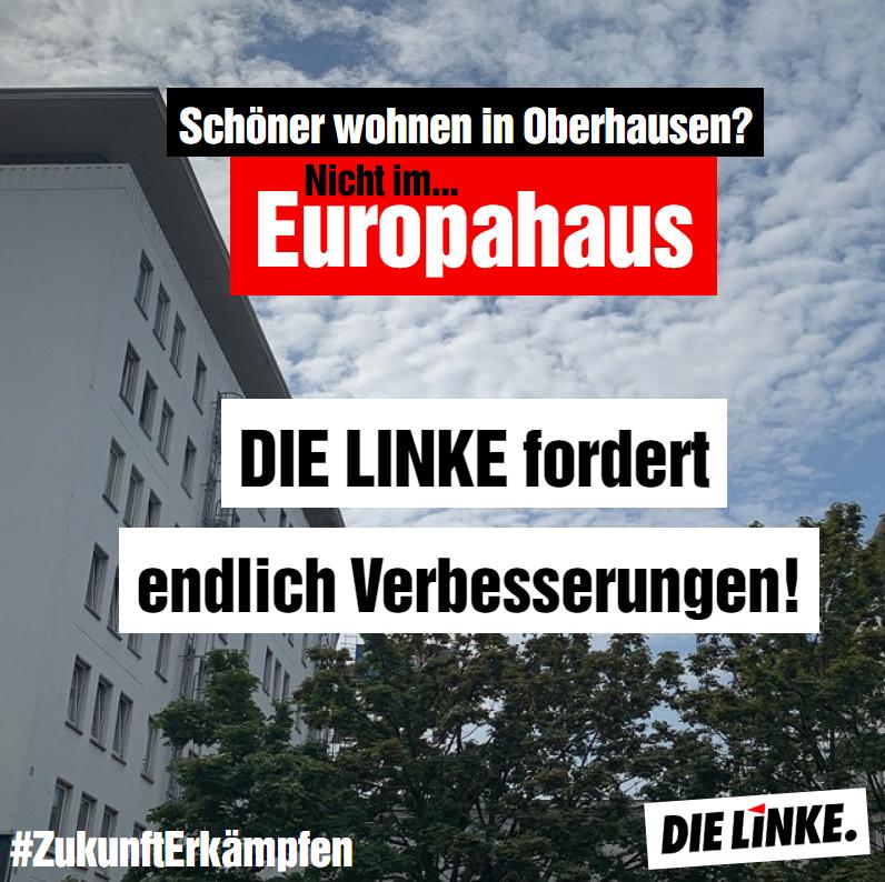 Europahaus: DIE LINKE fordert endlich Verbesserungen