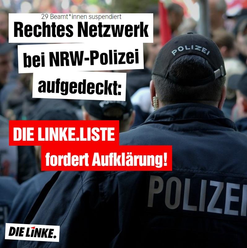 Nazi-Chatgruppen bei der Polizei: DIE LINKE.LISTE fordert Aufklärung