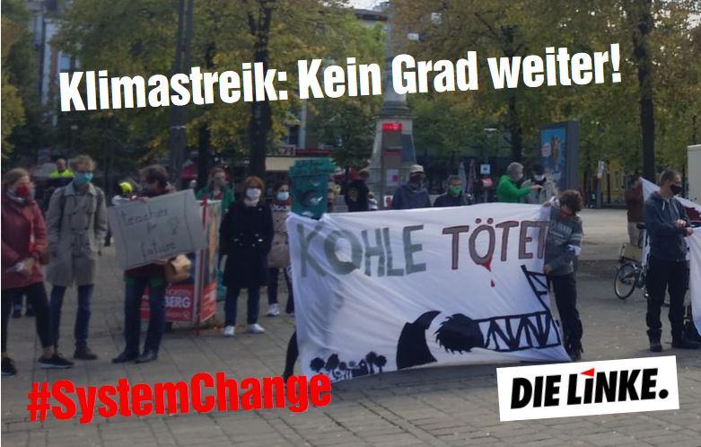Redebeitrag beim Klimastreik: Kein Grad weiter!