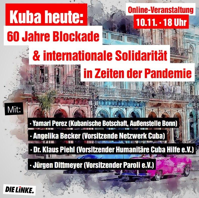 Kuba heute: 60 Jahre Blockade & internationale Solidarität in Zeiten der Pandemie!