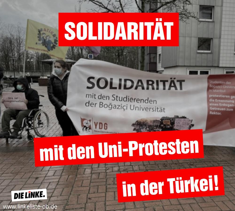 DIE LINKE.LISTE: Solidarität mit den Uni-Protesten in der Türkei