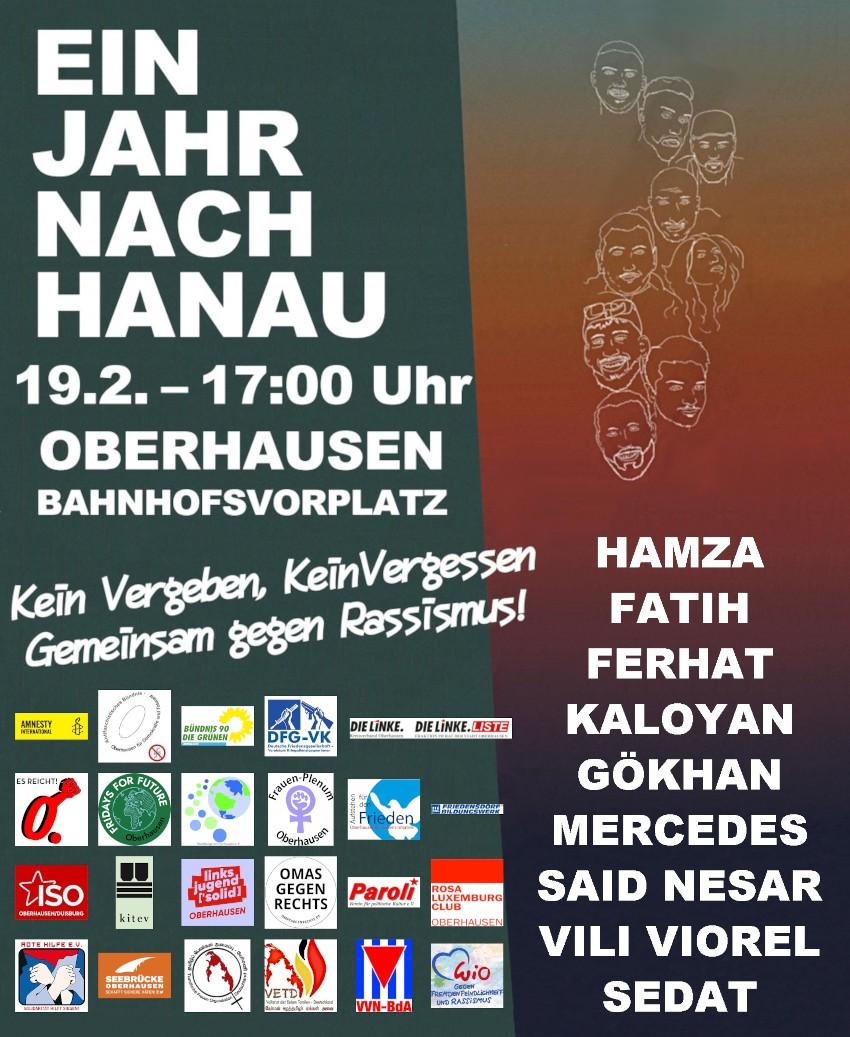 Gedenken: Solidarität von Oberhausen bis Hanau