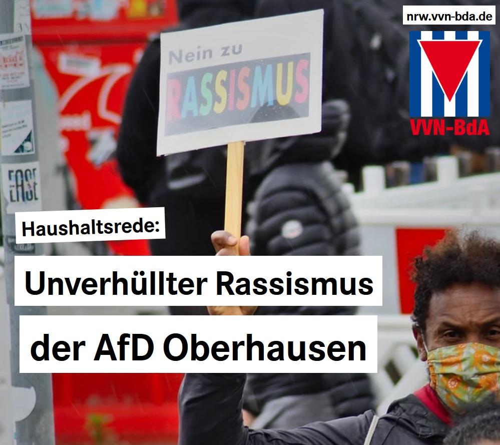 VVN-BdA: Unverhüllter Rassismus der AfD Oberhausen