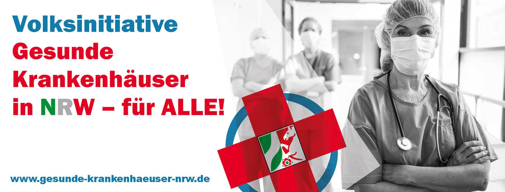 """DIE LINKE.LISTE sammelt Unterschriften für """"Volksinitiative Gesunde Krankenhäuser NRW"""""""