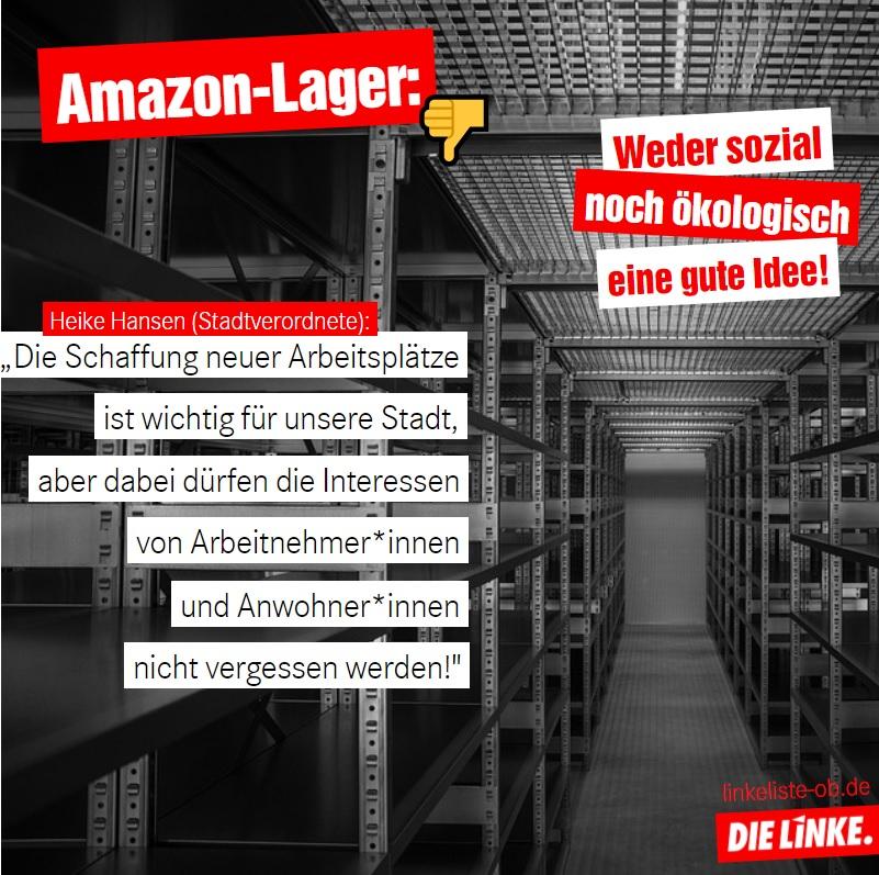 Amazon-Lager: Weder sozial noch ökologisch eine gute Idee