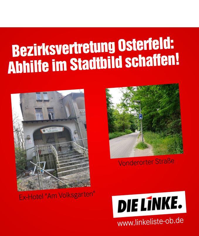Bezirksvertretung Osterfeld: Abhilfe im Stadtbild schaffen!