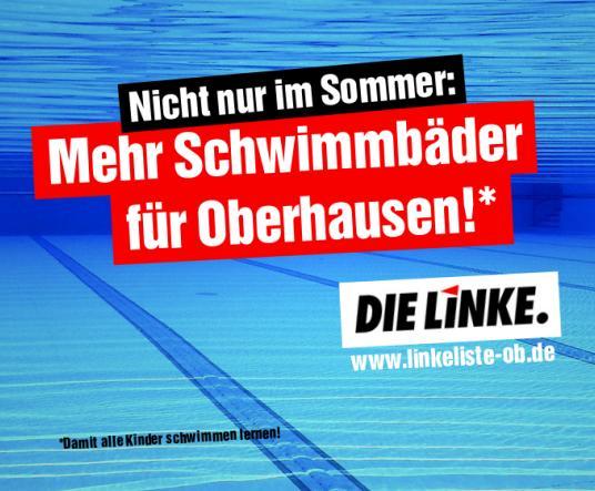 DIE LINKE.LISTE fordert mehr Schwimmbäder!