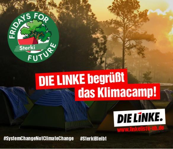 DIE LINKE begrüßt das Klimacamp
