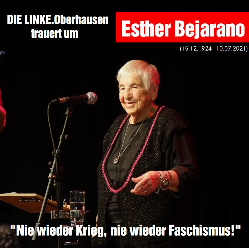 DIE LINKE. Oberhausen trauert um Esther Bejarano