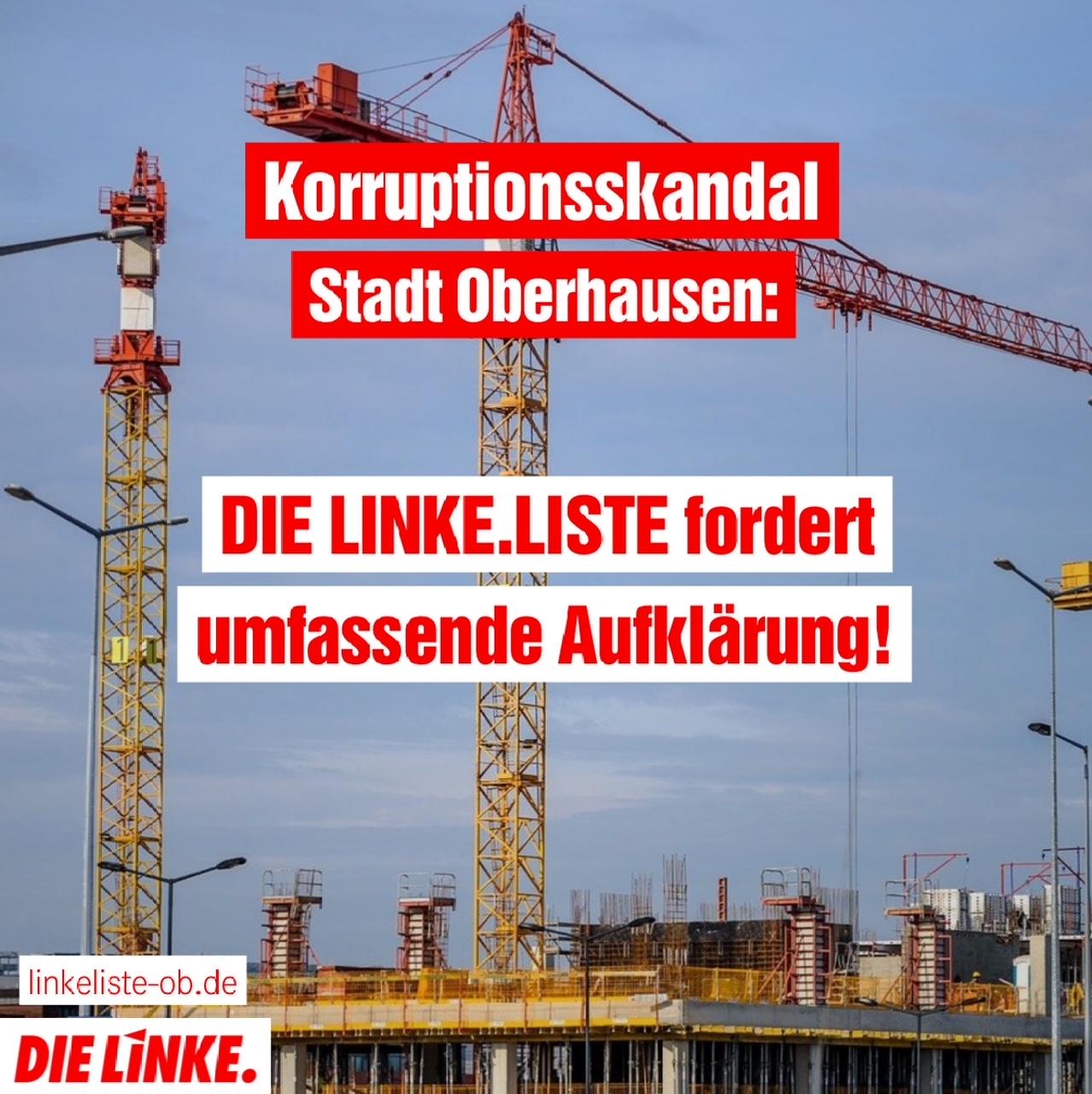 Korruption: DIE LINKE.LISTE fordert umfassende Aufklärung