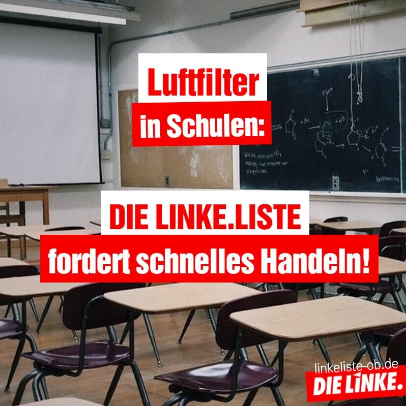 Luftfilter in Schulen: DIE LINKE.LISTE fordert schnelles Handeln