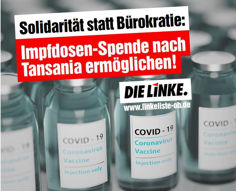 Impfdosen-Transport nach Tansania ermöglichen!