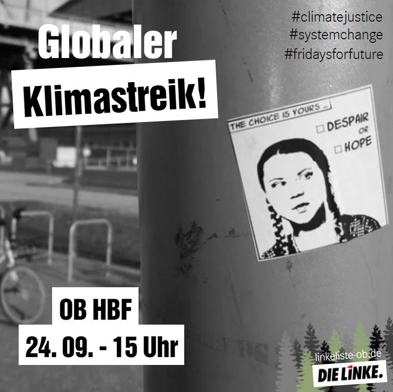 DIE LINKE ruft zur Beteiligung am Klimastreik auf
